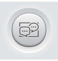 Discussion board icon business concept vector