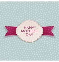 Happy mothers day holiday paper label vector