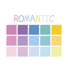 Romantic color tone without code vector