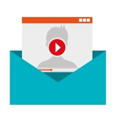 Movie or video attach on email vector