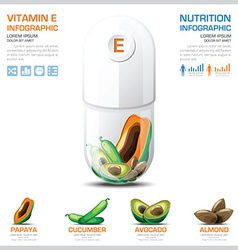 Vitamin e chart diagram health and medical vector