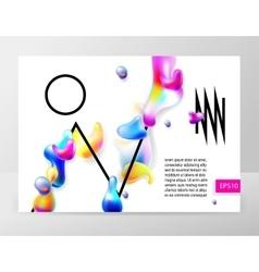 abstract bright colorful plasma drops shapes vector image vector image