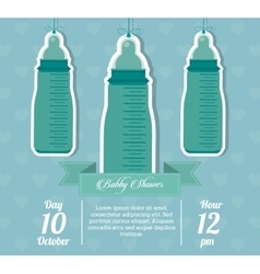 Baby shower design baby bottle icon vector