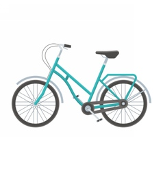 Blue Bicycle vector image vector image