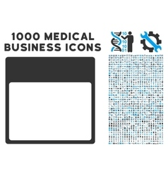Calendar page template icon with 1000 medical vector