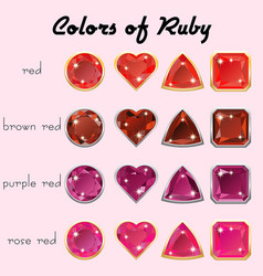 colors of ruby vector image