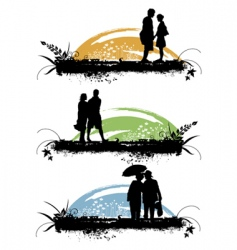 couple love vector image vector image
