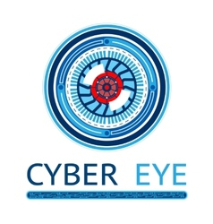 Creative cyber eye logo vector