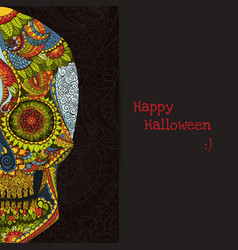 Day of the dead sugar skull mexican decoration vector