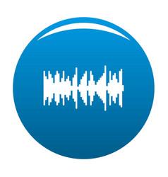 Equalizer vibration icon blue vector