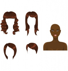 hair brown vector image vector image