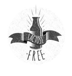Lactose free logo or icon vector