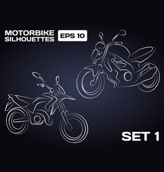 Motorbikes silhouettes vector image