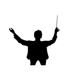 Music conductor back from a birds eye view vector image vector image