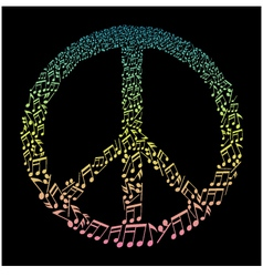 Musical peace symbol vector