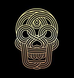 parallel lines skull symbol on black background vector image