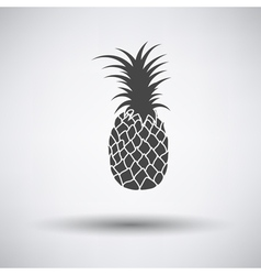 Pineapple icon on gray background vector image vector image