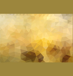 polygon background golden honey vector image vector image