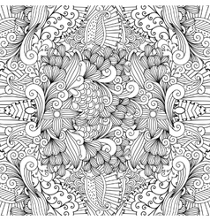 Seamless pretty textile pattern with floral shapes vector