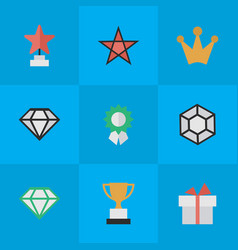 set of simple trophy icons elements brilliant vector image vector image