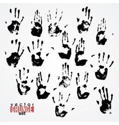 Set of traced ink handstamps Blots Grunge vector image