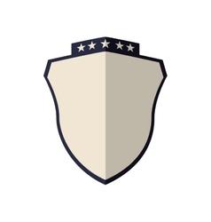 Shield with stars icon label design vector