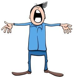 singing boy cartoon vector image