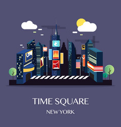 Time square new york vector