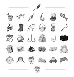 travel transportation and other web icon in black vector image