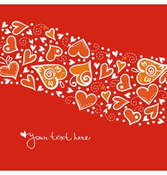 Valentine card vector image vector image