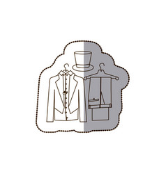 Jacket pants and hat icon vector