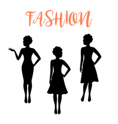 Fashion woman silhouette with folded hair vector