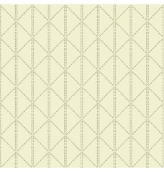 Beige quilted seamless pattern background vector