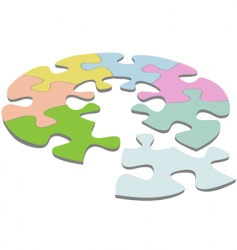 Jigsaw puzzle vector