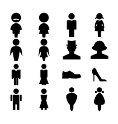 Man and women icon vector