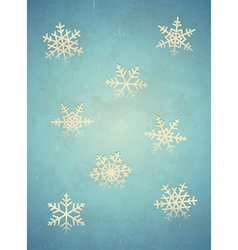 Aged card with snowflake vector