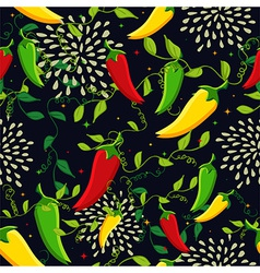 Mexican chili seamless pattern vector