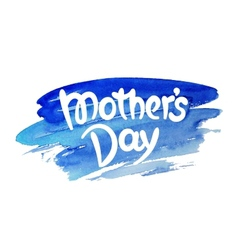 Mothers day hand-drawn lettering vector