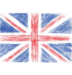 Flag of uk pencil drawing vector