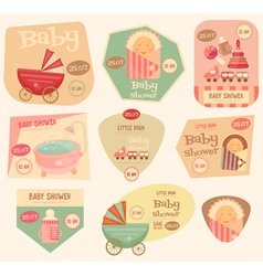 Baby stickers layered vector