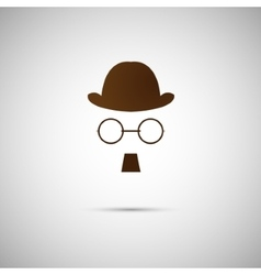 Black hat with a old mustache vector