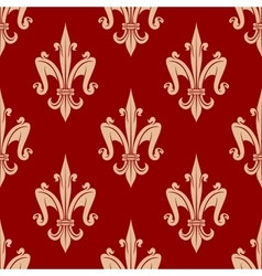 French fleur-de-lis seamless floral pattern vector