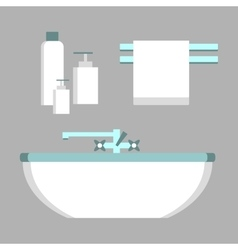 Bathroom elements set vector