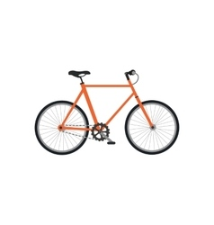 Bicycle design flat isolated vector