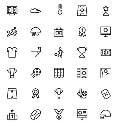 Football line icons 2 vector