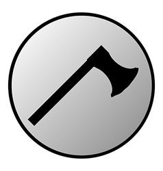 Axe button vector image