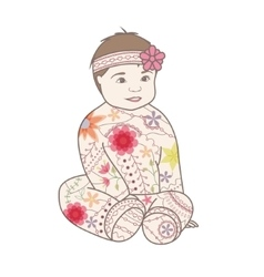 Baby girl vintage vector