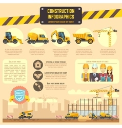 Construction infographic template with vector