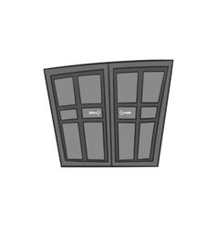 Double door icon black monochrome style vector image