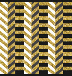 Luxury gold glitter abstract 80s seamless pattern vector